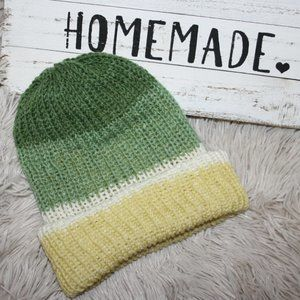 Reversible wool double knitted beanie child